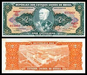 Brazil P-157A  2 Cruzeiros Year ND 1955 a//Uncirculated Banknote