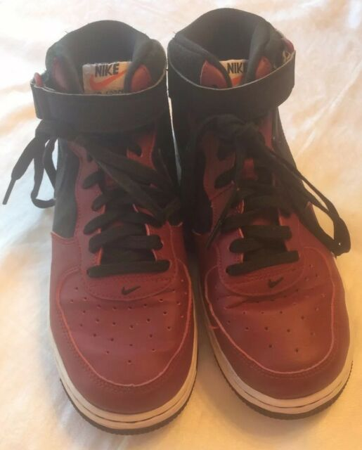 official photos 2e2b6 86725 Nike Air Force 1 Mid GS Youth Shoe Size 7y 314195-032 Black Team Red