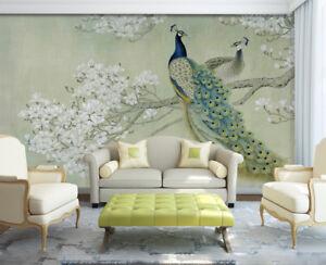 3d Peacock 427 Wallpaper Murals Wall Print Wallpaper Mural Aj Wall
