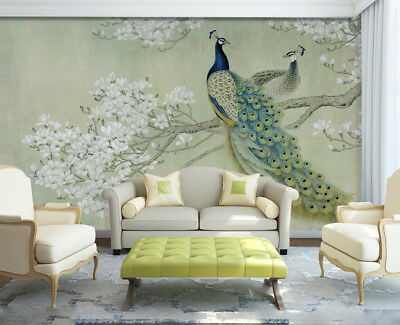 3d Peacock 427 Wallpaper Murals Wall Print Wallpaper Mural