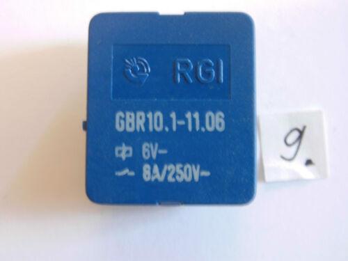 Relè GBR 10.1-11.06 6 V 8 a 250 V AC 1x per disteso relay