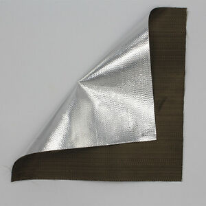 Aluminized Titanium Heat Shield Aluminized Basalt Fiber Cloth High temp 648℃ NEW