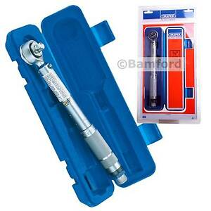 Draper-34570-3-8-034-Torque-Wrench-Adjustable-10-80-Nm-Calibration-Certificate-Case