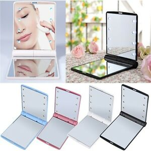 Hot-LED-Make-Up-Mirror-Cosmetic-Mirror-Folding-Portable-Compact-Pocket-Gift-CK