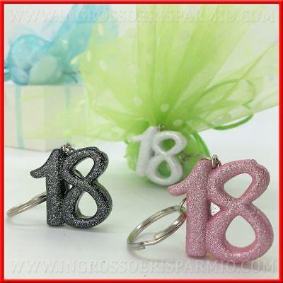 Portachiavi resina Palloncino colorato 18 ANNI diciottesimo compleanno B