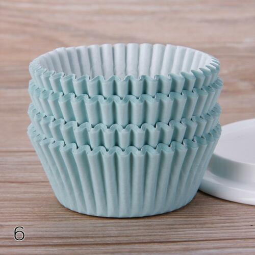 100PCS Paper Cupcake Wedding Wrapper Muffin Liners Baking Cups Mode Top