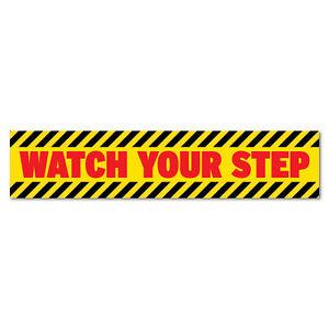 Watch-Your-Step-Warning-Sticker-Decal-Safety-Sign-Car-Vinyl-7261EN