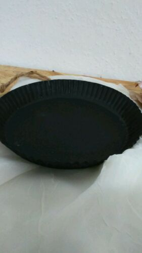 Décoration moule Casserole métal noir avec poignée jute