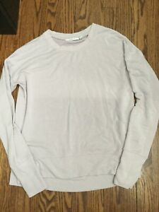 Athleta Coaster Luxe Sweatshirt  Soft Lilac Yoga Top Women Size S  New
