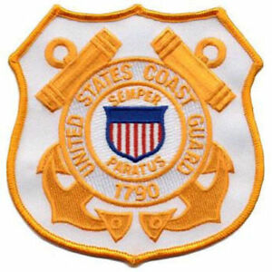 "Coast Guard Shield 4-1/2"" x 4-1/2"" sew on high quality patch/ EMBLEM GIFT?"