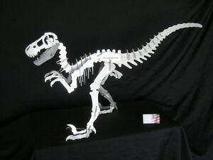 Aluminum Allosaurus, T-rex family Dinosaur sculpture 37 inches long Raptor