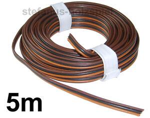 5m Litze 3-adrig hellbraun-schwarz-braun Modellbahn-Kabel zu Fleischmann-Weichen
