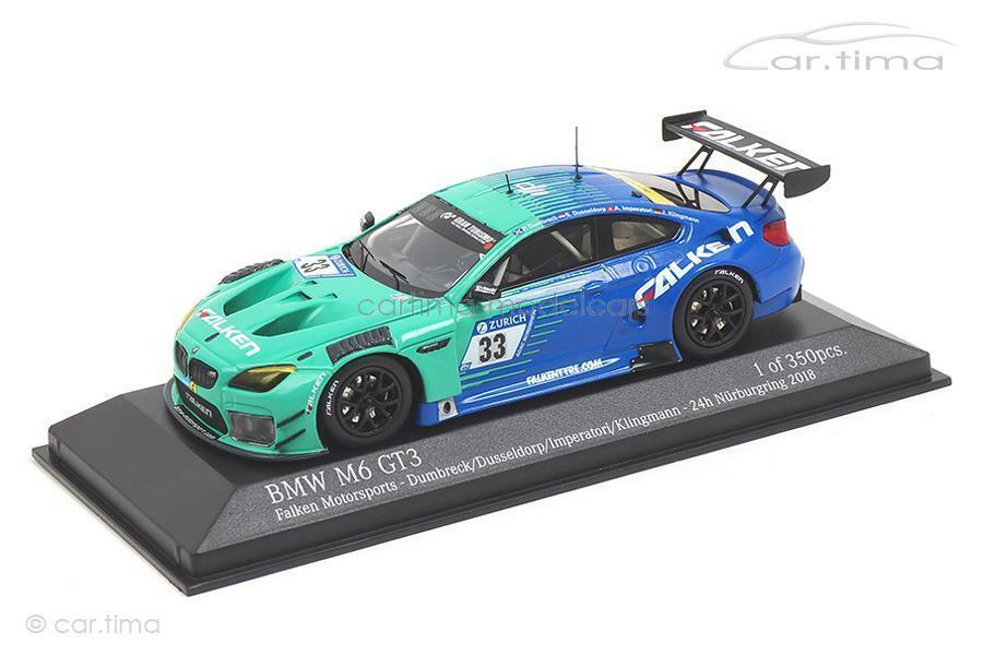 Bmw m6 gt3 - 24h nurburgring 2018-Halcón Motorsport-Minichamps 1 43 - 447182