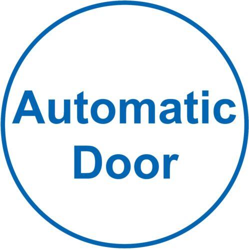 Porte automatique signe x4 Autocollant BLUE /& WHITE VINYL petit cercle 7 cm Dia.