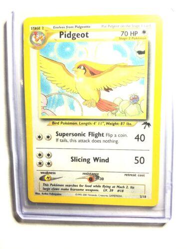 EXC // NM PIDGEOT Southern Island Promo Pokemon Card 2//18