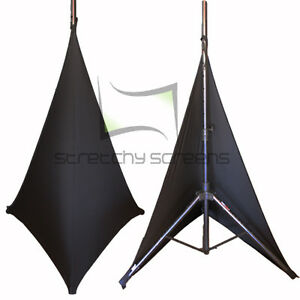 Details about Spandex Speaker Stand Covers - Double Sided - 9 Pack!  StretchyScreens.com
