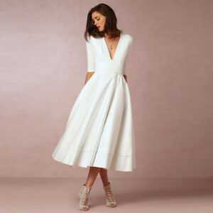 magasin en ligne hot-vente plus récent qualité Détails sur Nouveau femmes élégantes Vintage Swing a-line robe Cocktail  mariage soirée fête