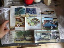 Catalogue Renault Dauphine dont Gordini Brochure Prospekt