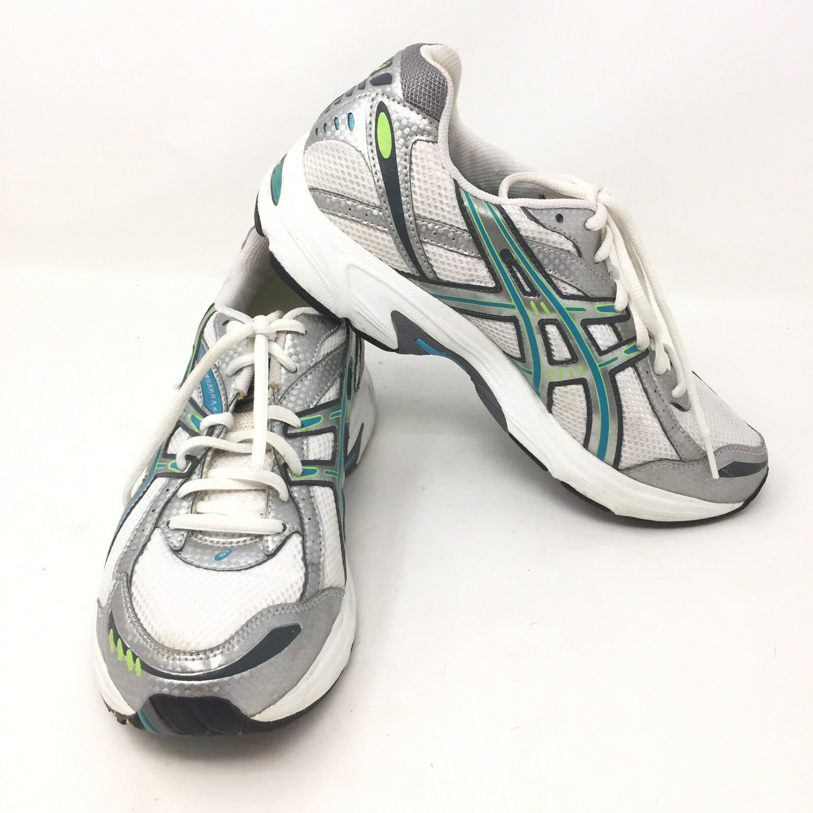 Asics Gel Kanbarra 4 Women's T975N White bluee Green Athletic shoes Size 8.5 P3A