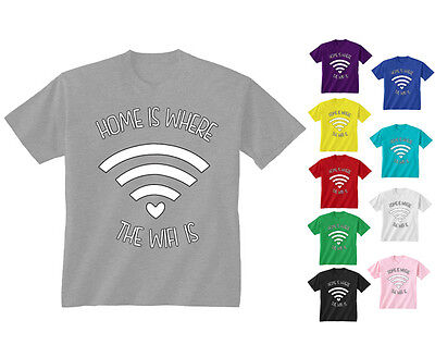 Home Is Where The Wifi Is Funny Teen Tumblr Kids T-Shirt