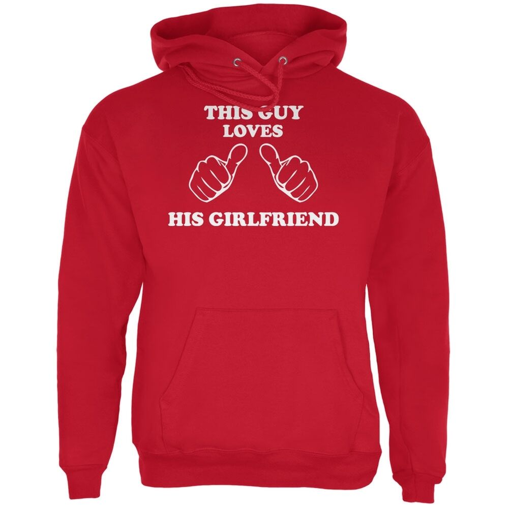 Valentine's Day This Guy Loves His Girlfriend ROT Adult Hoodie