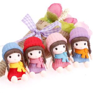 4Chicas-con-sombrero-Miniatura-Estatuilla-Dollhouse-Muneca-JardinMicro-PaisajeSC