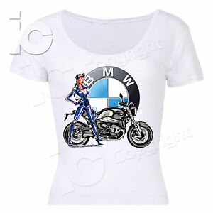 t shirt bmw motorrad donna woman power turismo racing moto. Black Bedroom Furniture Sets. Home Design Ideas