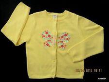 Gymboree Spring Rainbow Butterfly Flowers Yellow Orange Blue  Pink Sweater 8