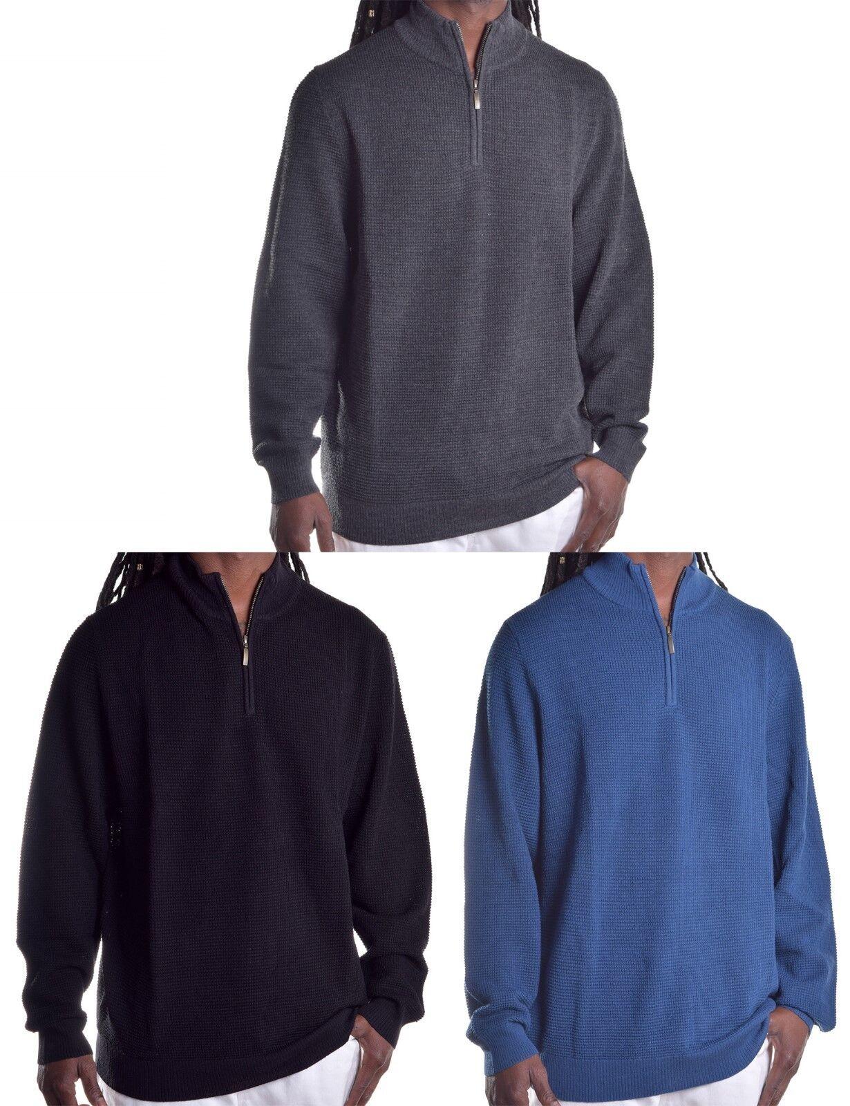 Club Room Men's  1 4 Zip Knit Merino Wool Blend Sweater Choose color & Size