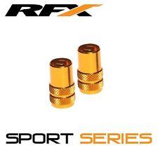 RFX Sport Series Valve Caps & Valve Key (2pcs) GOLD SUZUKI RM65 RM85 RM125 RM250