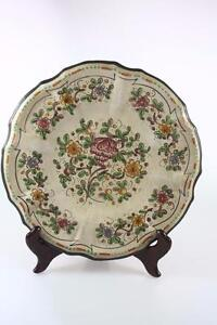 VINTAGE-ITALIAN-DECORATIVE-WALL-PLATE-CERBELLA-GUBBIO-Hand-Painted