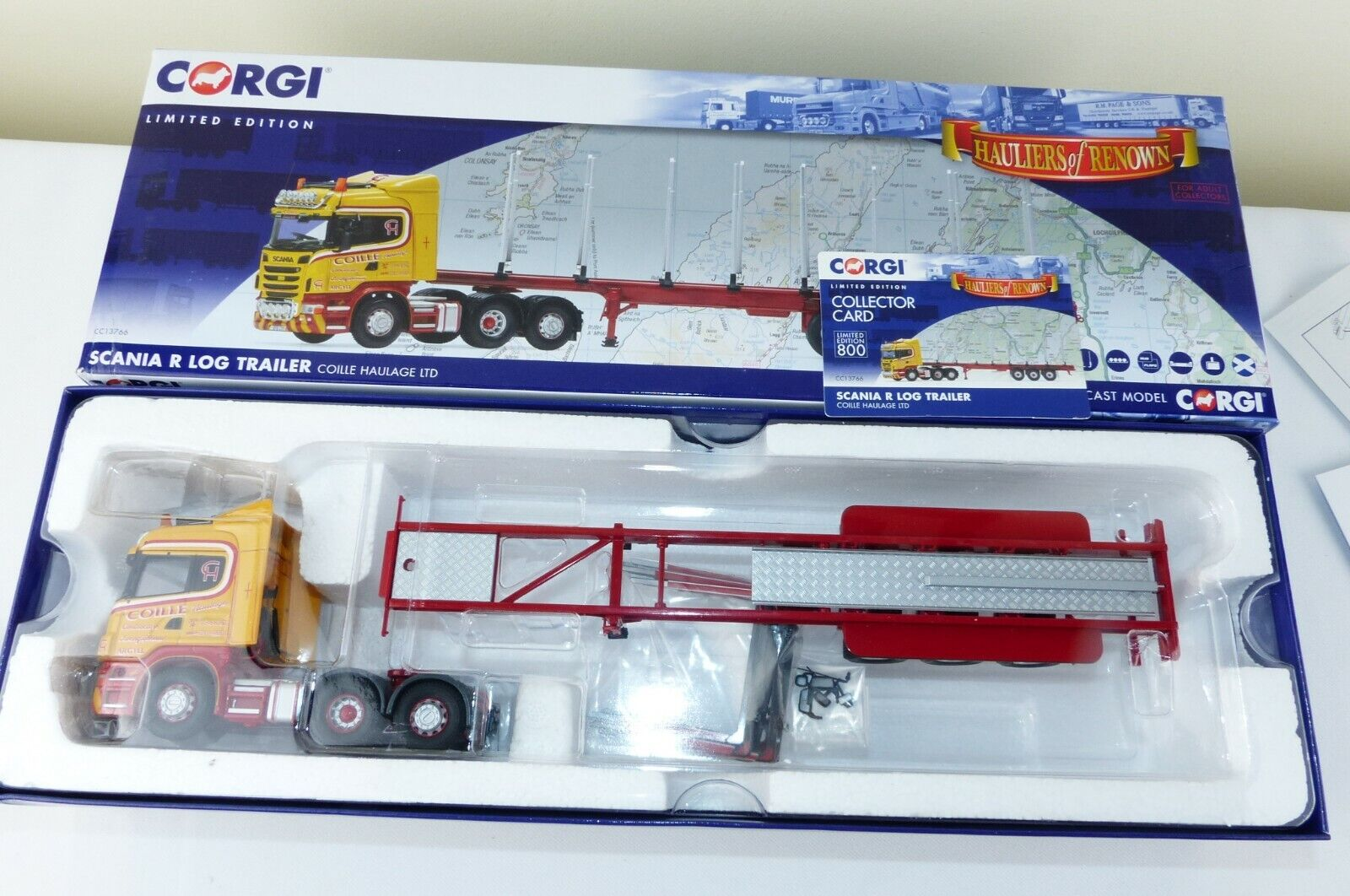Corgi Hauliers of renown No 13766 Scania R and log trailer  Coille  New