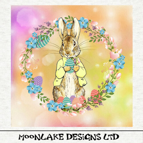 Peter Rabbit primavera con huevos de Pascua-Tela Cojín Craft Panel de acolchar