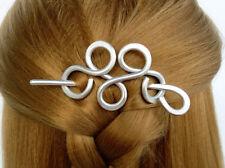 Metal Loop Hair Clip Slide Stick Hair Jewelry Scarf Shawl Pin Sweater Brooch