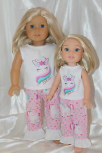 Dress-Outfit-for-14inch-Wellie-Wishers-18inch-American-Girl-Doll-Clothes-Unicorn