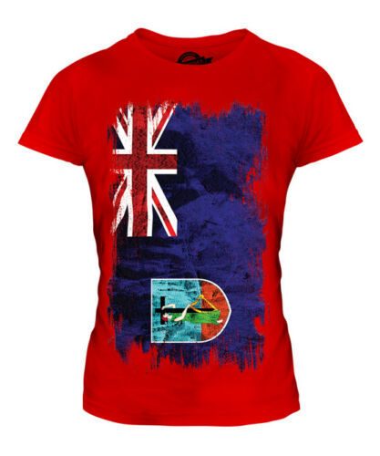 MONTSERRAT GRUNGE FLAG LADIES T-SHIRT TEE TOP MONTSERRATIAN SHIRT CLOTHING GIFT