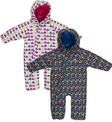 Trespass Breezy Babies Snowsuit Girls Boys Insulated All-in-one 6-12 mths