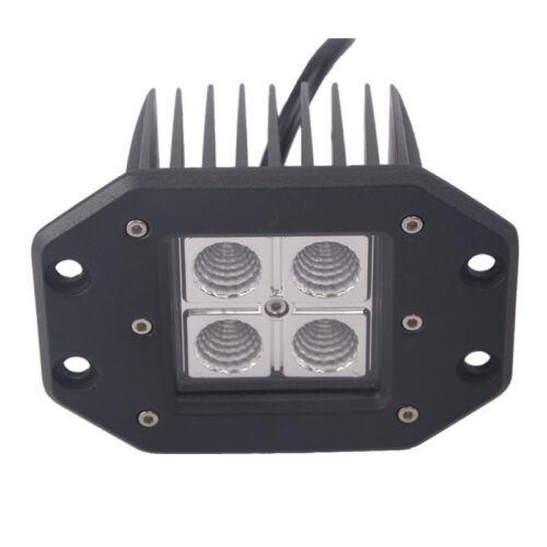 6X 5inch 16W CREE LED Work Light Bar Pods Flush Mount Flood Driving Lamp 12V24V