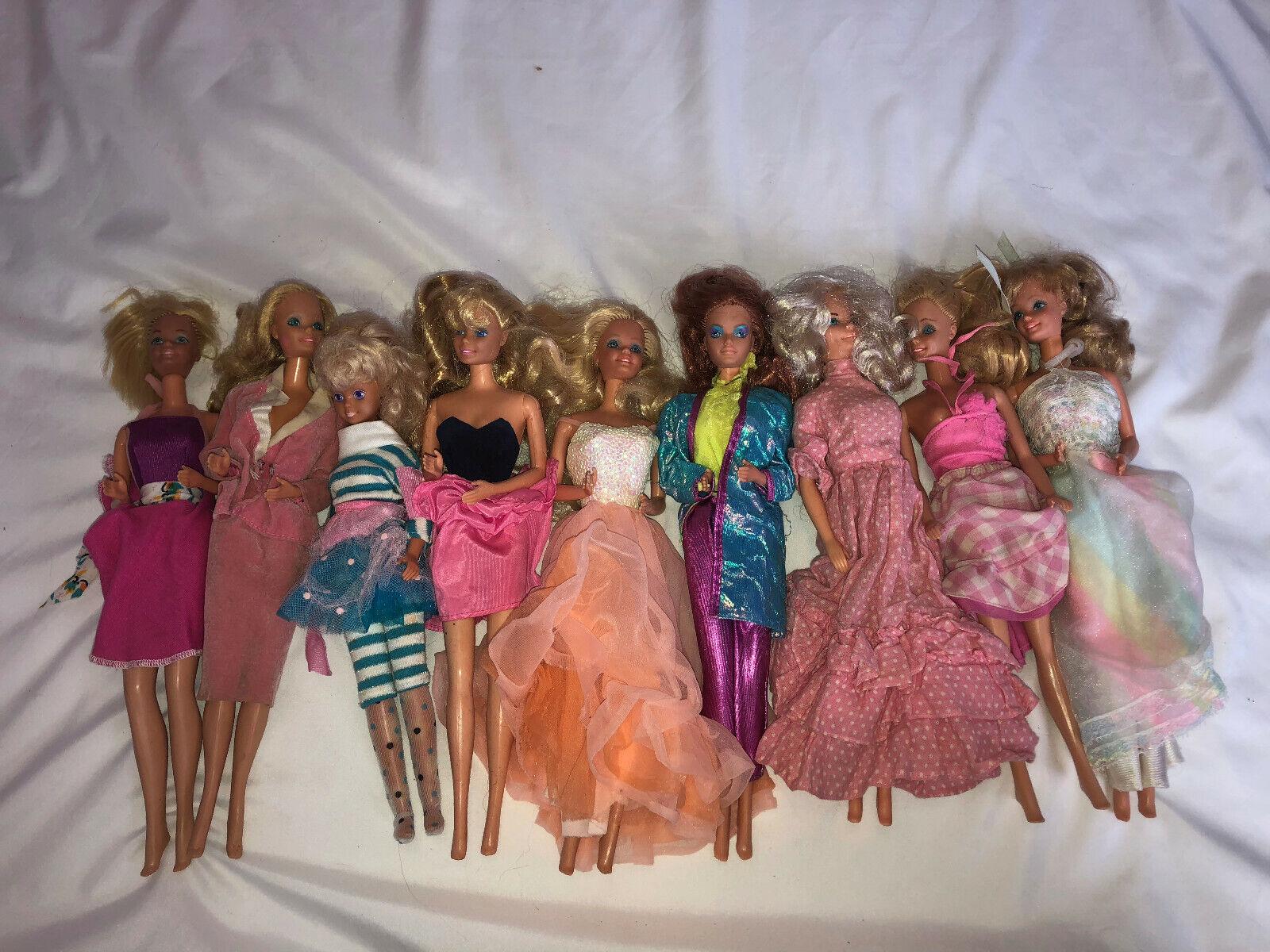Vintage década de 1960 Lote de 9 Muñecas Barbie Vestidos de Fiesta Surtidos vestidos trajes mixto