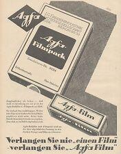J1493 AGFA Filmpack - Pubblicità grande formato - 1929 Old advertising