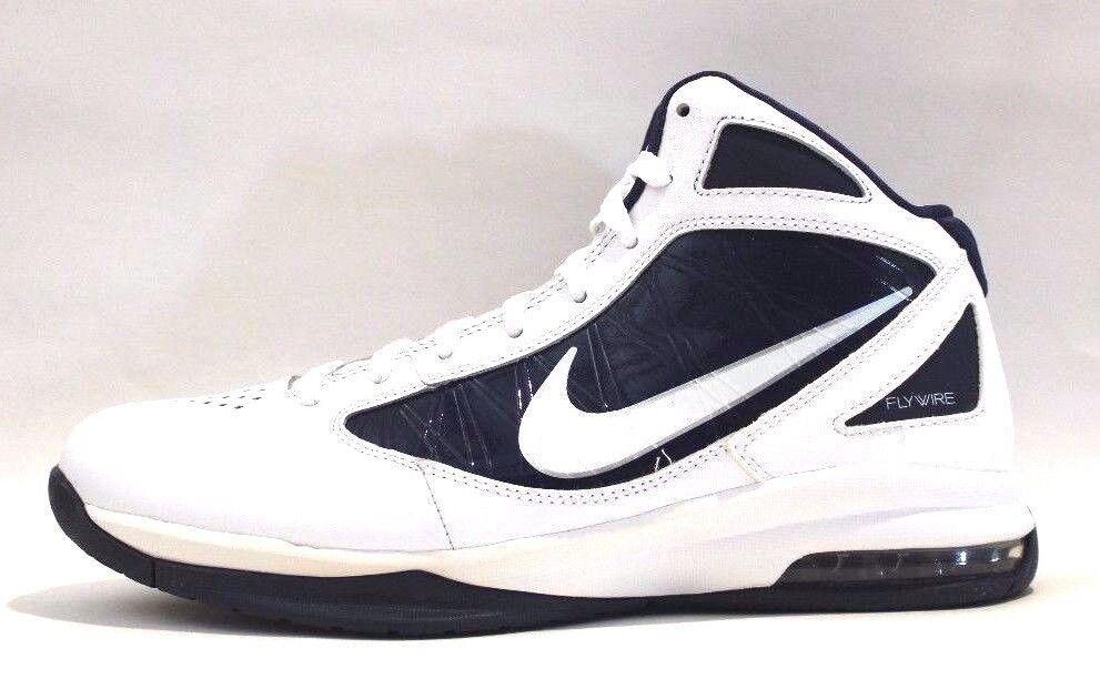 Nike Basketball men's Air Max Destiny Basketball Nike Schuhes,Weiß/Mid Navy/Mtlc/Silver, Größe 8. 3680ed