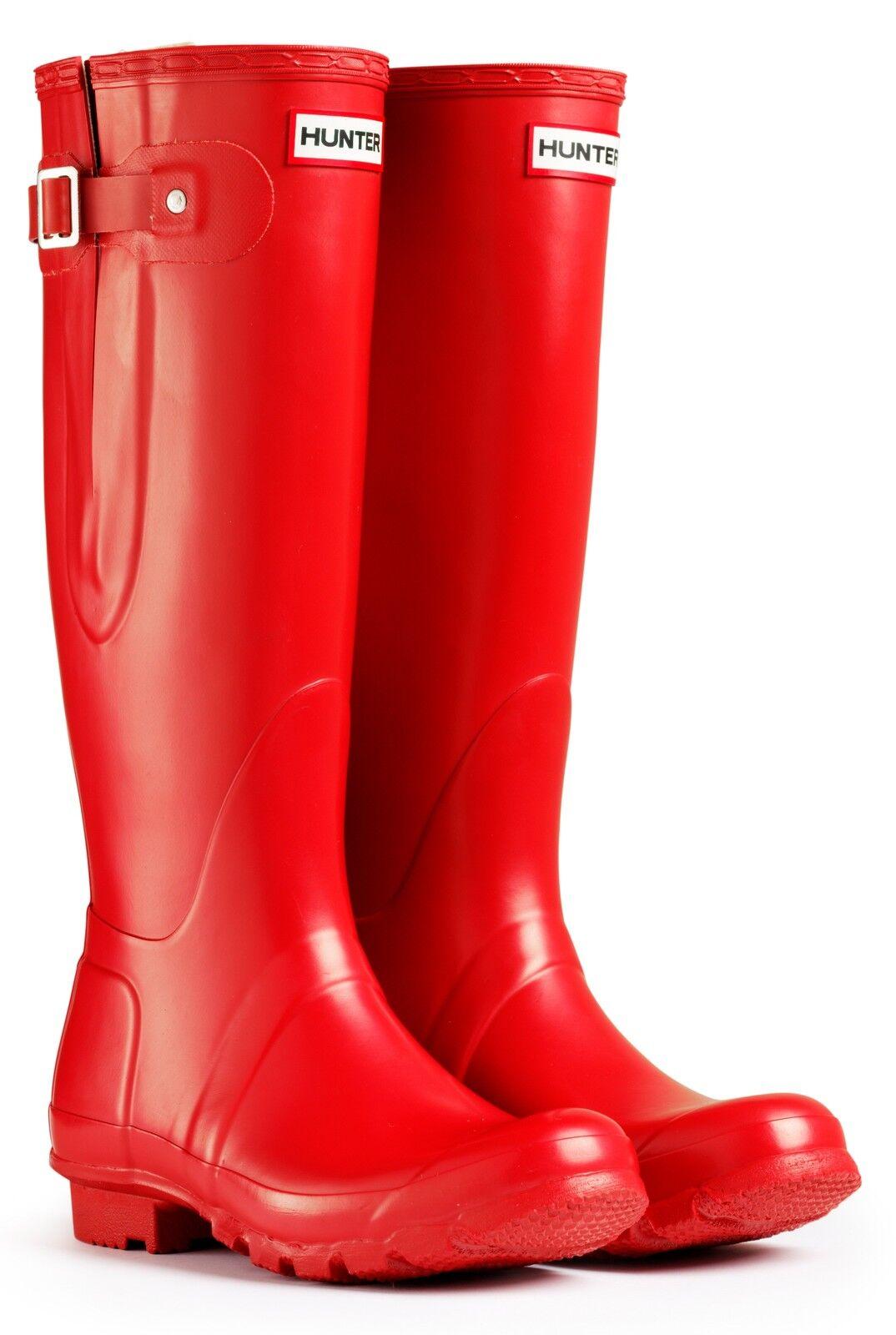 Hunter Wellington Stiefel Wellies Welly Original Adjustable ROT Größe UK 3 Eu 35/36