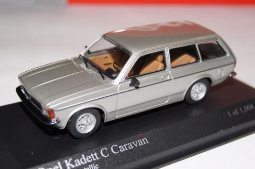 Opel Kadett C Caravan 1978 plata 1:43 Minichamps nuevo /& OVP