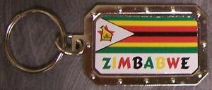 Nickel-metal-key-ring-National-Flag-Zimbabwe-NEW
