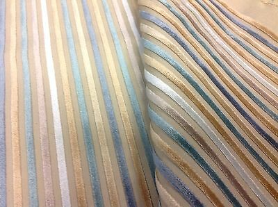 Kravet CoutureThin Stripe Cut Velvet-Pagoda Plush/Halong Bay (31469-1615) 1.65yd