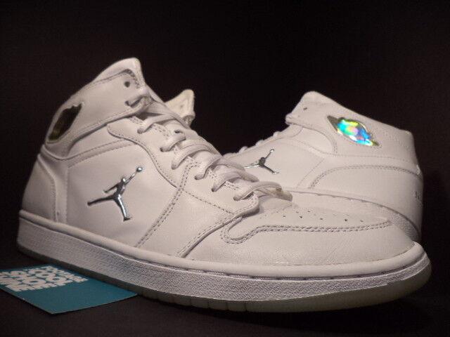 2018 Nike Air Jordan I Retro 1 PLATINUM WHITE SILVER COOL GREY 306000-101 12 Great discount