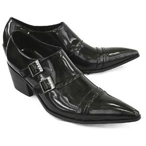Fulinken-Size-5-12-Genuine-Leather-Monk-Strap-Dress-Mens-Pointed-Loafers-Shoes