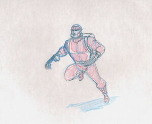 X-Men-Logan-Wolverine-Production-Drawing-cel-Marvel-1992-Animated-Series-L7