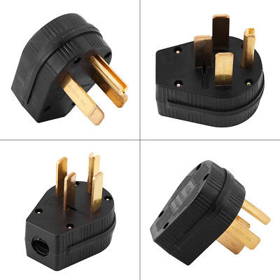 1pc NEMA 14-50P 50A 125//250V Straight Blade Angle Plug US Four Holes Plug GL