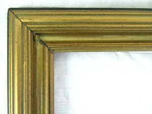 ANTIQUE-FITS-11-5-034-X17-87-034-GOLD-PICTURE-FRAME-WOOD-FINE-ART-COUNTRY-GESSO-ORNATE